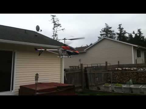 Double Horse 9053 Volitation Windy helicopter Flight with broken wing.MOV
