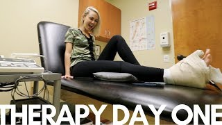 BROKEN/SPRAINED ANKLE - PHYSICAL THERAPY day1