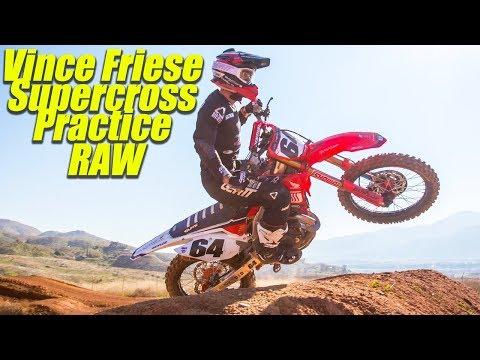 Vince Friese Supecross Practice RAW - Motocross Action Magazine