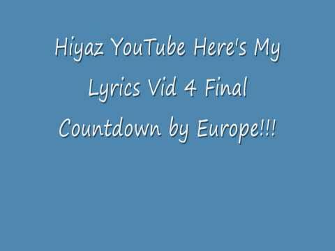 The Final Countdown Lyrics Chords Chordify