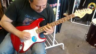 Panos Arvanitis shredding on a Squier Affinity strat