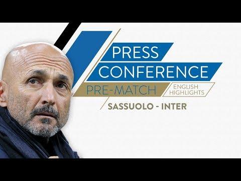 SASSUOLO-INTER   Luciano Spalletti's Pre-match Press Conference (English Subtitles)