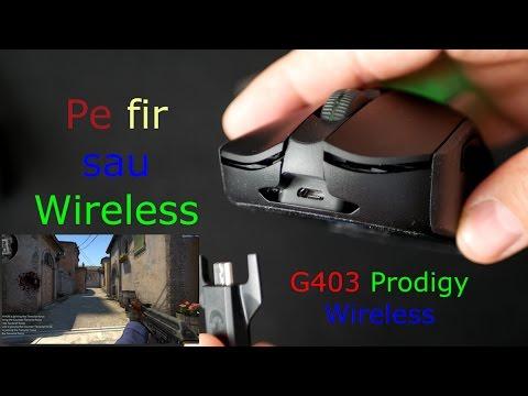 Logitech G403 Prodigy Wireless review - mouse de gaming wireless