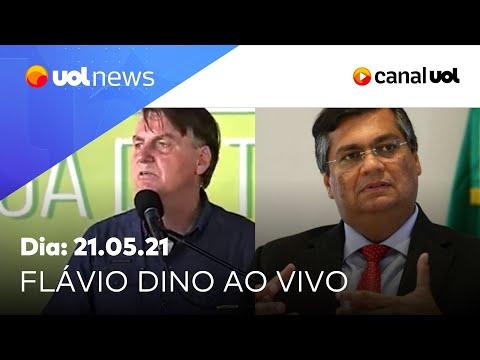 Bolsonaro promove aglomeração no Maranhão, e Flávio Dino comenta | UOL News Tarde (21/05/2021)