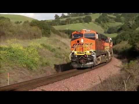 BNSF trains in action
