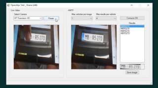 OpenALPR VB.NET demo using a webcam