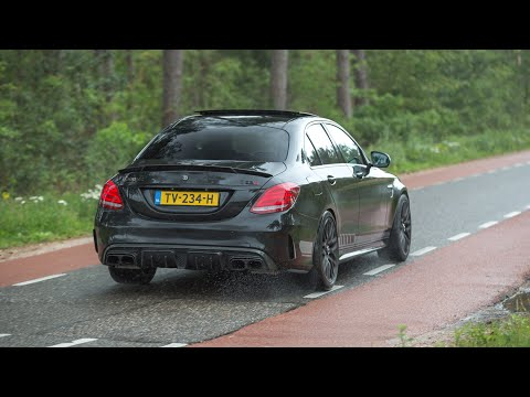 BRABUS Mercedes C63 S AMG with iPE Exhaust - LOUD Revs & Accelerations !