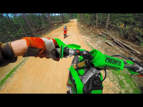 Woods Motocross Track - Chasing Friends on KX250F