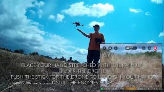 Hand Launch and Hand Landing with Parrot Bebop 2 Power Drone
