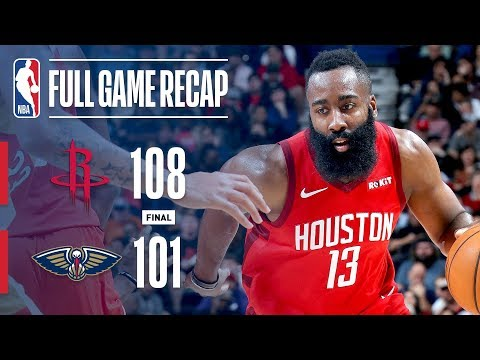 Full Game Recap: Rockets vs Pelicans | Harden Drops 41