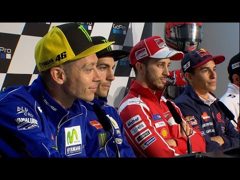 Dovi, Marquez and Rossi discuss dashboard messages