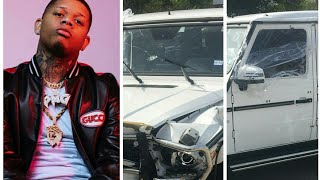 Yella Beezy They Tried to Take me Out Post Pics Of His totalled Car
