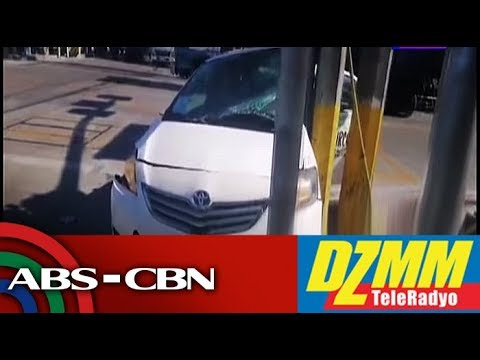 Trak sumalpok sa taxi sa Maynila; 3 sugatan