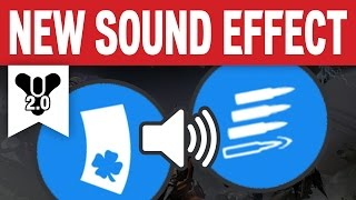 Destiny - NEW SOUND EFFECT when shooting Luck in the chamber bullet