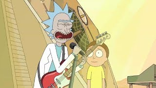 Adiós Hombres Lunares, Rick & Morty Cover.