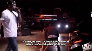 "50 Cent Ft. Eminem - Till I Collapse Remix ""Live S"