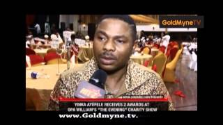YINKA AYEFELE RECIEVES DOUBLE AWARDS AT THE OPA  WILLIAMS SHOW (Nigerian Entertainment)