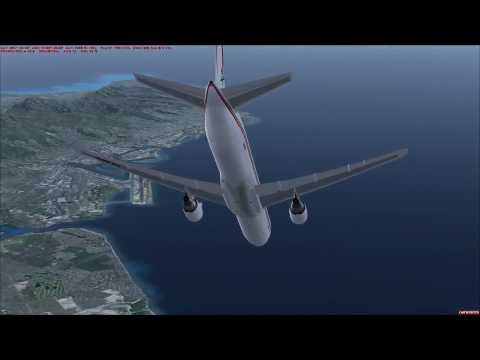 FSX: Royal Air Maroc – LevelD Boeing 767 landing at Hawaii – *1080P HD*