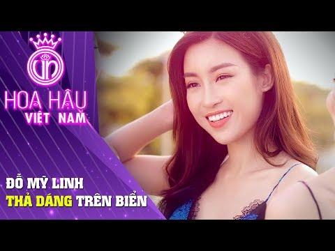 Hoa hậu Việt Nam | Hoa hậu Đỗ Mỹ Linh thả dáng tại bãi biển Cocobay Đà Nẵng