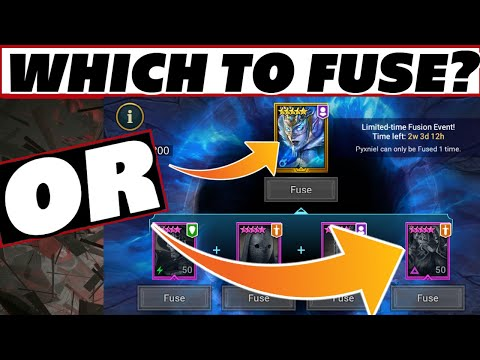 Fuse the lego or epics? Dec Fusion event Raid Shadow Legends Pyxniel or Rugnor