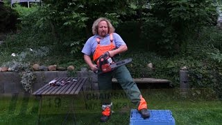 Behold Chainsaw Proof Pants in Action