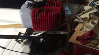 3.5hp air cooled Chinese outboard motor RUNNING
