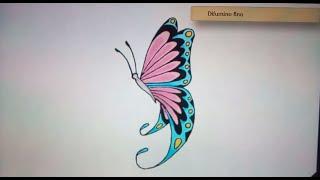 Como dibujar una mariposa - Art Academy Atelier Wii U   How to draw a butterfly