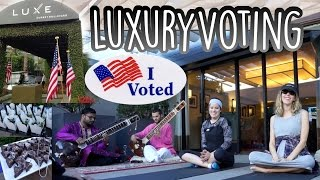 The Most Luxurious Polling Station 2016 [Yoga, Live Music, Free Food]