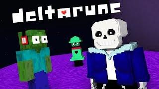 Monster School : DELTARUNE UNDERTALE 2 GAME CHALLENGE - Minecraft Animation