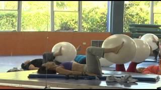 CLASE DE PILATES EN EL GIMNACIO MULTIDISCIPLINARIO DE LA UAT