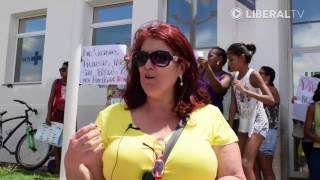 Manifestantes pedem reabertura da UPA São José
