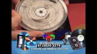 VHS para DVD e LP/Cassete para Mp3