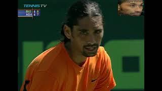 Marcelo Ríos vs Andre Agassi SF Miami 2002  Highlights