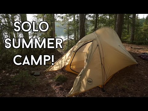 FINDING PEOPLE IN THE MIDDLE OF NOWHERE!  SOLO SUMMER CAMP part2 : Bushcraft, Fishing and Fun!