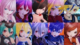 [60fps Full Compilation] The Lost One's Weeping ロストワンの号哭 (P-mode ver.) -ft Project DIVA Characters