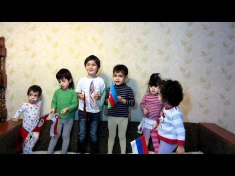 2012 himn AZerbaycan! Azeri TURKLERI  Uzeyir Mehdizade 2012