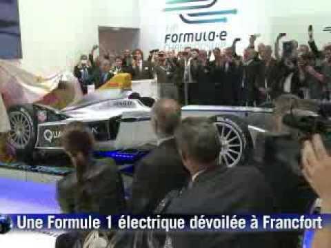 La Formule E, monoplace 100% électrique, dévoilée à Francfort