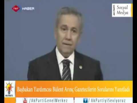 Başbakan Yardımcısı Bülent Arınç Gazetecilerin Sorularını Yanıtladı