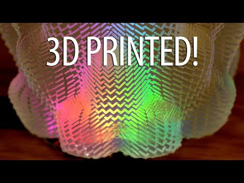 3D Printing with Math! Cuboid Vase on Form 2 3D Printer - Lights from Adafruit Circuit Playground