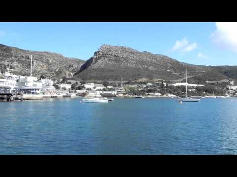 Simon's Town, first day. The boat come back in town after trip. False Bay. South Africa.
