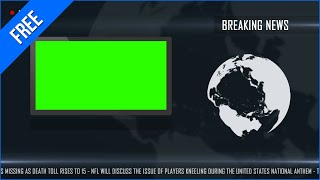 Layout de Jornal #3 - News Layout #3 / Green Screen - Chroma Key