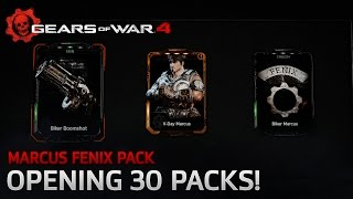 Gears of War 4 - Marcus Fenix Pack: Opening 30 Packs!