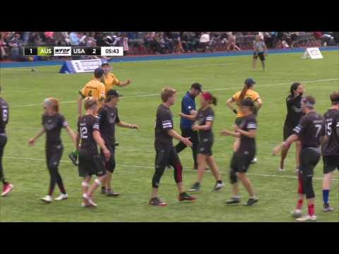 Video Thumbnail: 2016 World Ultimate Championships, Mixed Gold Medal Game: USA vs. Australia