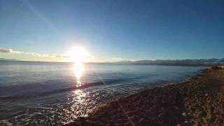 Soothing Beach sounds and sunrise - Vancouver Island BC Canada