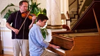 Jason Mraz - I Won't Give Up (Piano/Violin & Piano Percussion) - Tanner Townsend and Brigham Dastrup