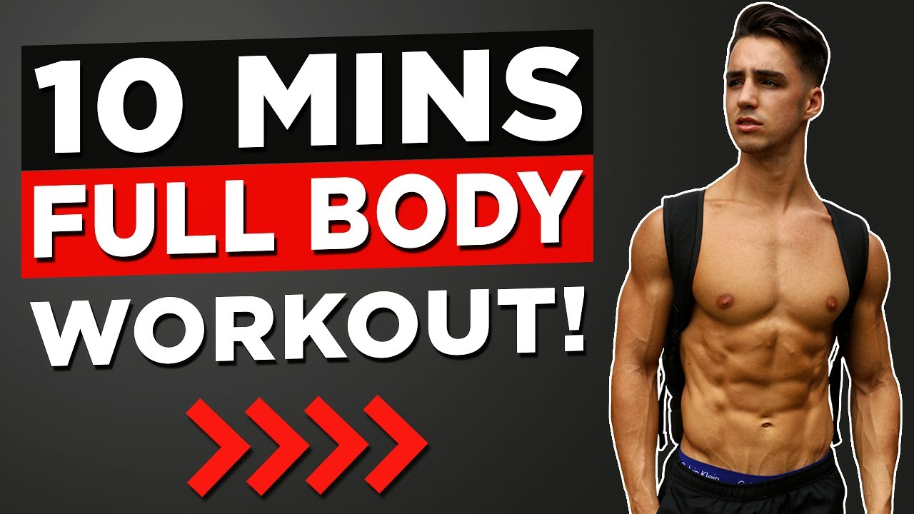 10 Min Full Body Workout (No Equipment Bodyweight Workout!)