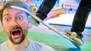 AARON TRIES 5 WORLD CHAMPION FREESTYLE TRICKS!