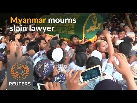 Mourners pay respects to Myanmar's slain lawyer