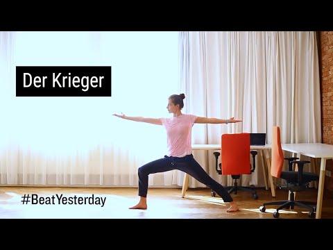"""Sportliche Mittagspause - Yogaübung """"Der Krieger"""""""