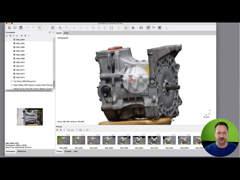 How-To Make 3D model of Nissan Leaf Motor with Photos/MetashapePro/Fusion360